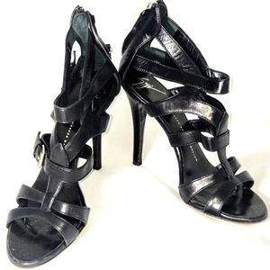 Giuseppe Zanotti  Black Caged Heels Stilettos